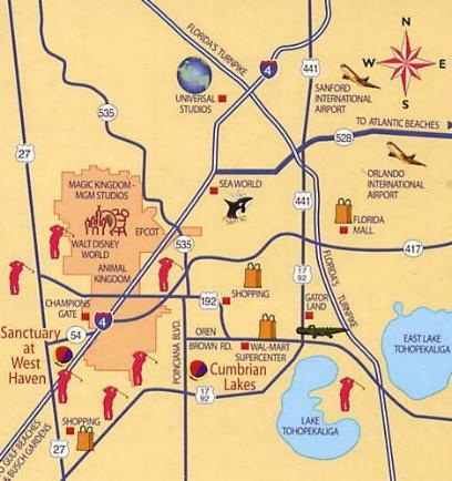 orlando villa communities map Orlando Villa Near Disney World Resort For Short Term Rental orlando villa communities map